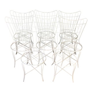 Salterini Wrought Iron Patio Chairs - Set of 8 For Sale