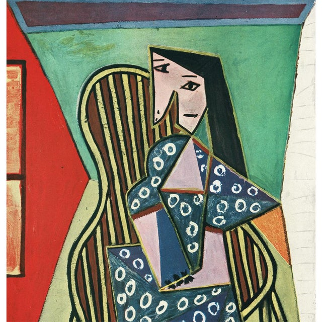 "Contemporary 1943 Picasso Original ""Femme Assise"" Period Lithograph For Sale - Image 3 of 10"