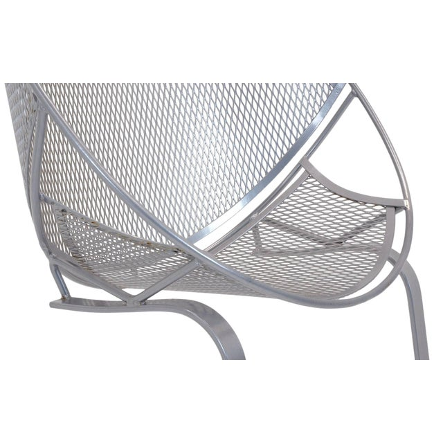 Silver John Salterini High Back Patio Lounge Chairs With Footrests - a Pair For Sale - Image 8 of 11