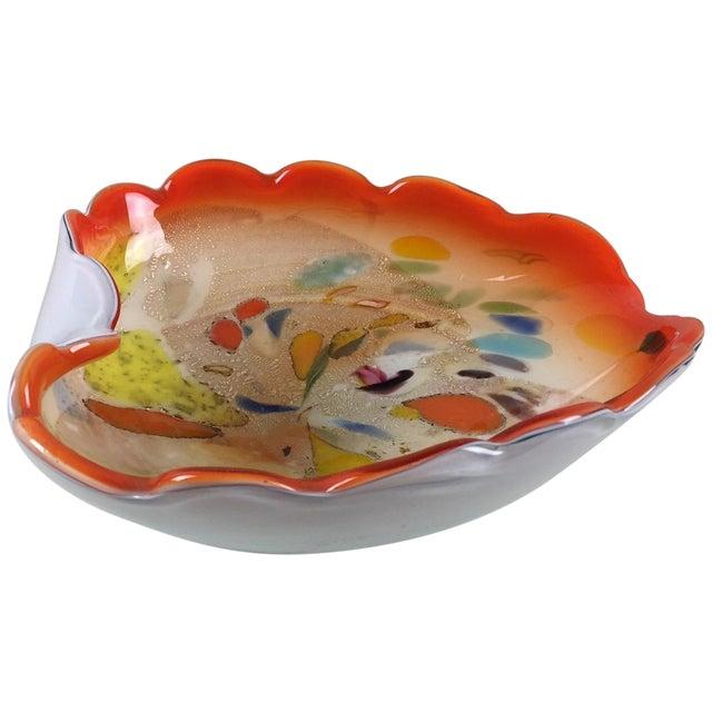 Brilliant Orange Murano Glass Bowl - Image 1 of 6