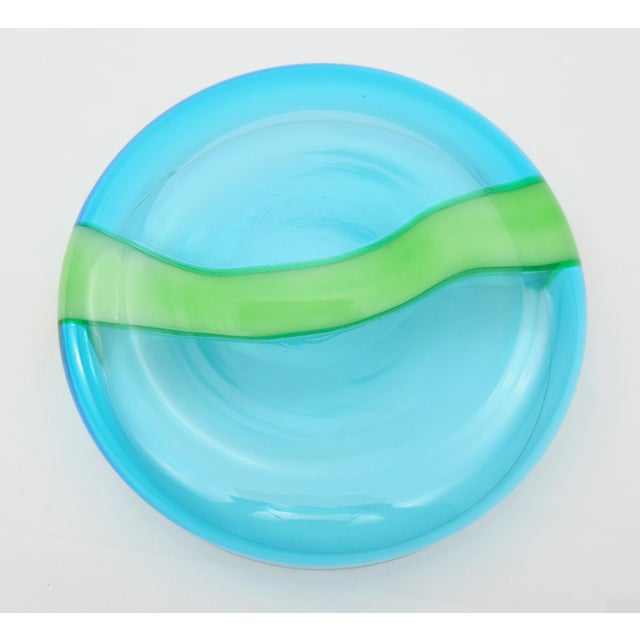 2000 - 2009 Vintage Hand-Blown Murano Glass Bowl by v. Nason & Co. For Sale - Image 5 of 7