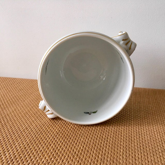 Ceramic 1980s Hollywood Regency Richard Ginori Ischia Pattern Floral Cachepot For Sale - Image 7 of 11