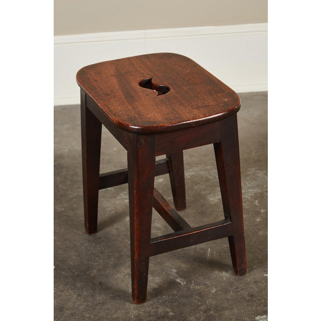 Small 19th Century English Georgian Oak Stool - Image 3 of 6