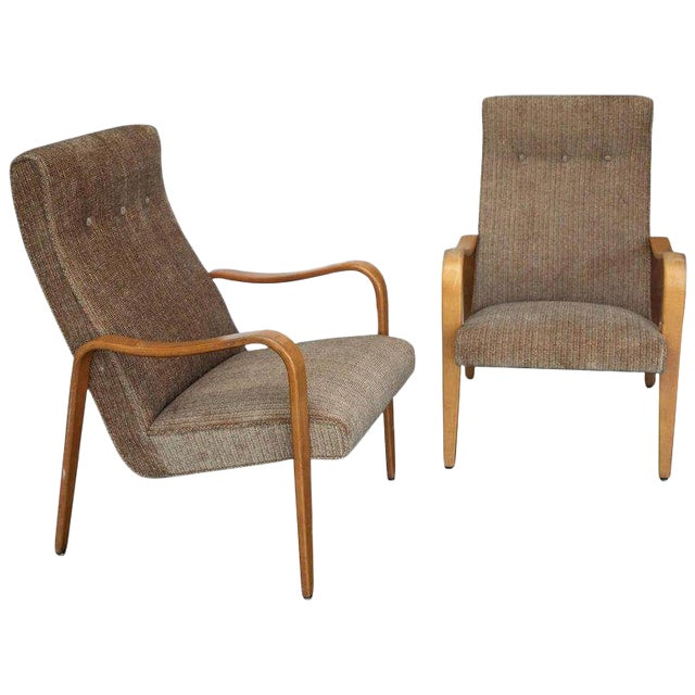 Pair of Thonet Bentwood Armchairs For Sale
