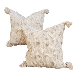Par Sofft Fluffy Moroccan Wedding Quilt Pillows - a Pair For Sale