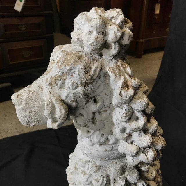 1920s Dog Lovers' Life Sized Stone French Poodle Sculpture Statue For Sale - Image 12 of 13