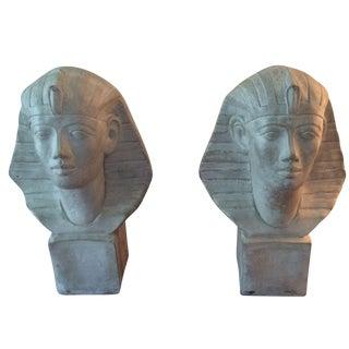 Busts of Tutankhamen - A Pair For Sale