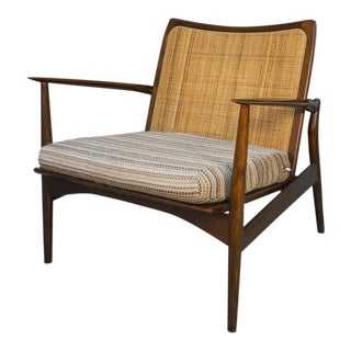 1950s Vintage Kofod Larsen Danish Modern Spear Lounge Chair For Sale