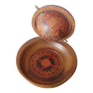 Vintage Italian Globe & Coin Change Bowl - a Pair