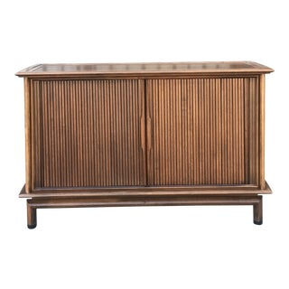 Mid Century Media/Bar Stand With Tambour Doors
