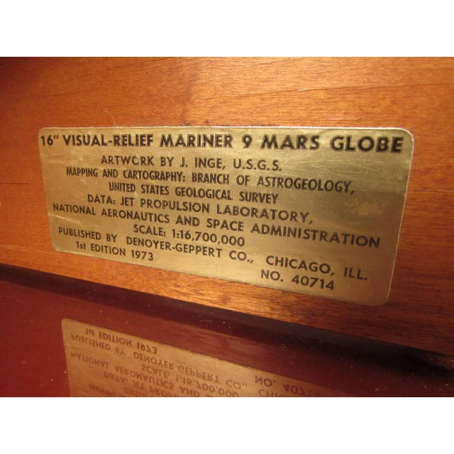 Mid-Century Modern 1973 Denoyer-Geppert Rare First Edition Mariner 9 Mars Globe For Sale - Image 3 of 9
