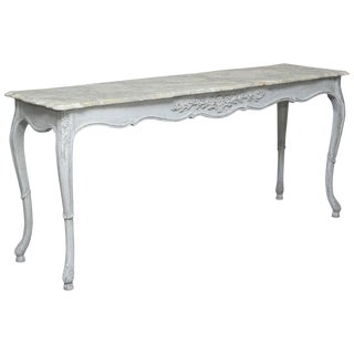 Faux Painted Sofa Table Console For Sale