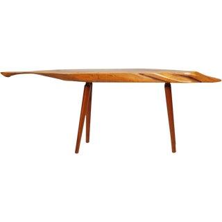 Roy Sheldon Narrow Free Edge Cocktail Table For Sale