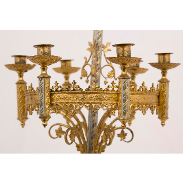 Rococo Early 20th Century Candleabra Lamps - a Pair For Sale - Image 3 of 4