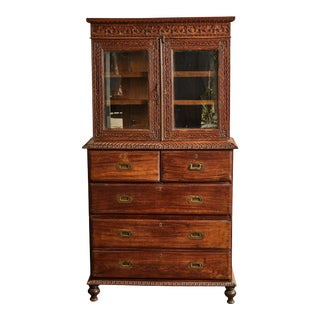 Indian Rosewood Display Cabinet GOA For Sale