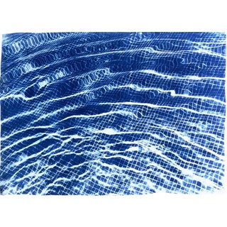 Miami Art Deco Pool / 100x70cm / Cyanotype on Watercolor Paper / Limited Edition (50) For Sale