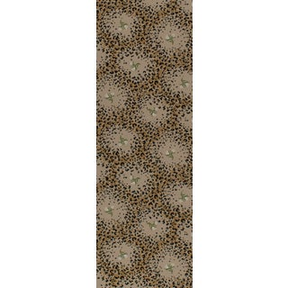 "Limited Edition - White Leopard Rose Petite - 2'8"" x 8'3"" For Sale"