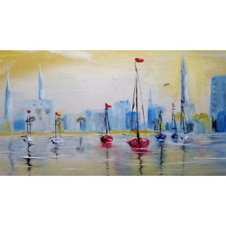 ''Charleston Harbor'' Oil Painting For Sale