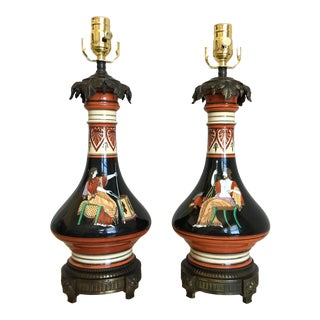 French Art Deco Lamps - a Pair For Sale