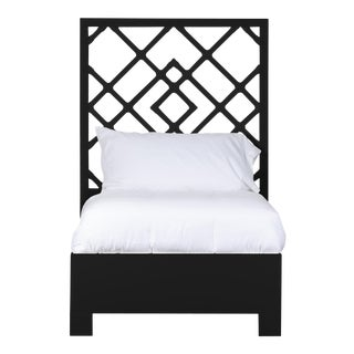Darien Bed Twin Extra Long - Black For Sale
