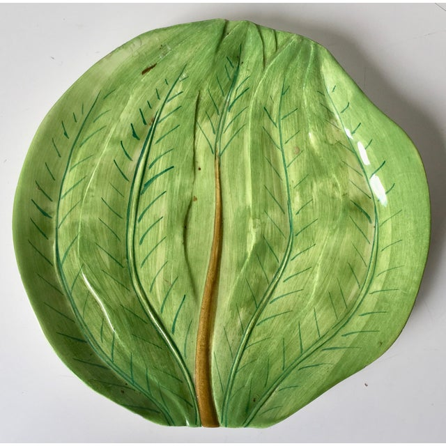 This lovely Italian faience artichoke cup and leaf dish are made by Este Ceramiche. A wonderful serving set for...