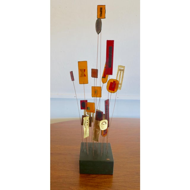 Gold Kinetic Abstract Sculpture Bt Curtis Jere For Sale - Image 8 of 8