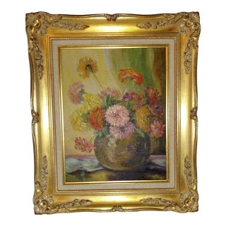 Floral Still Life Oil Painting From Belgium