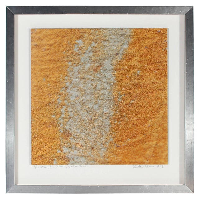 """Please allow at least 14 days for printing and framing before a piece is shipped. Entitled """"Texture 2: Ochre"""", this 2013..."""