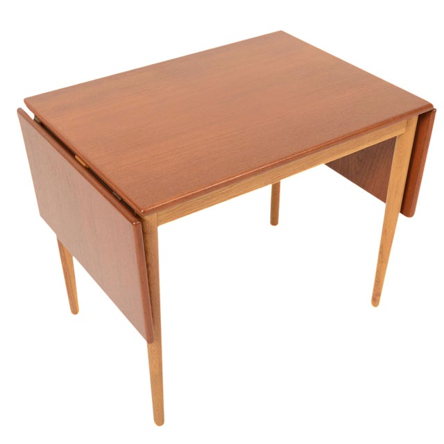 Borge Mogensen Teak & Oak Drop Leaf Coffee Table For Sale