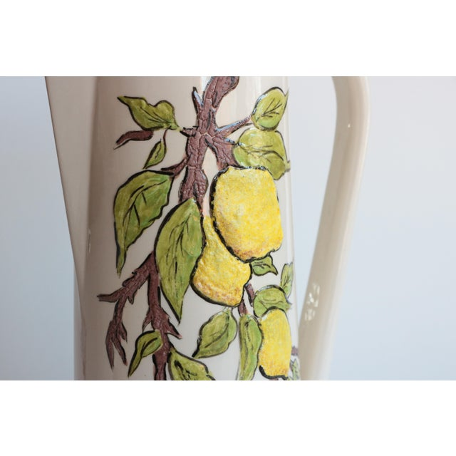 Lemon Branch Pitcher and Tumblers - Set of 6 For Sale - Image 9 of 11