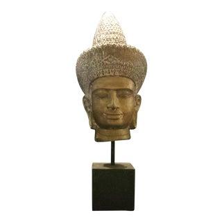 Small Buddha Head Sculpture
