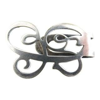 Sterling Silver Napkin Clip For Sale