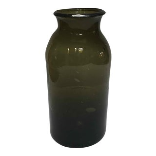 French Green Glass Bottle For Sale