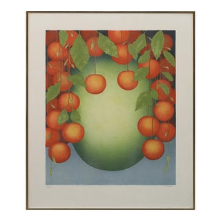 "Color Lithograph ""Fruit"" by Nils Artur Nilsson For Sale"
