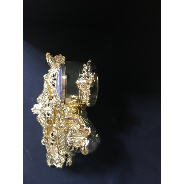 2000 - 2009 Italian Polish Brass Mantel Clock Statue of a Woman For Sale - Image 5 of 7