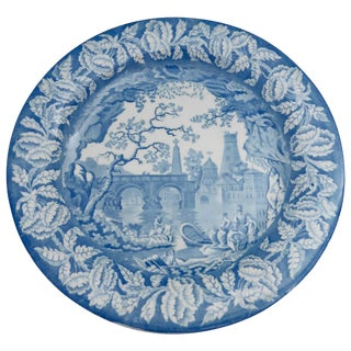 19th Century Victorian Blue and White Staffordshire Plate