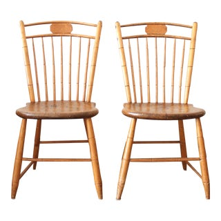 C. 1850's Windsor Chairs - A Pair