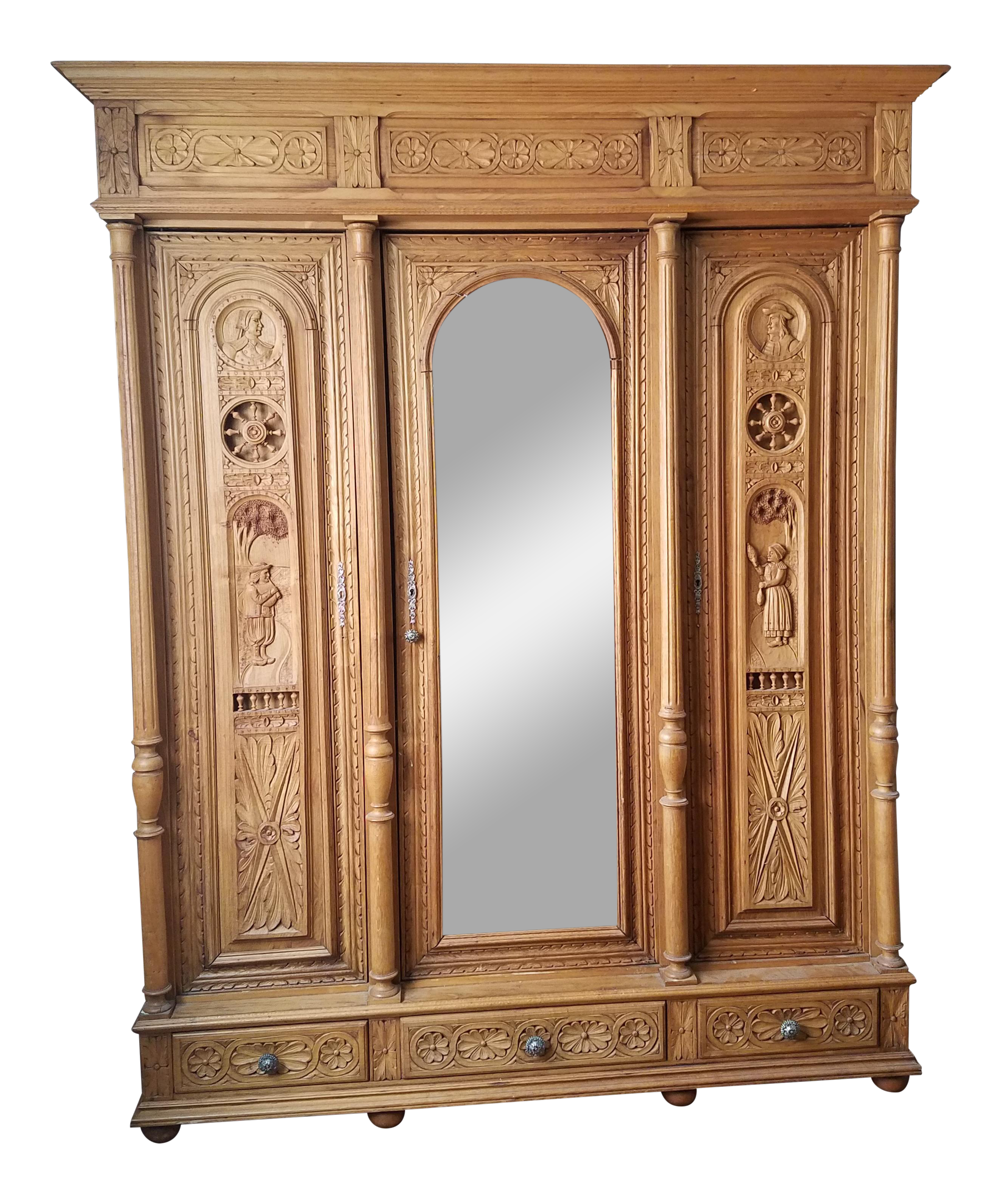 english antique armoire antique distressed flemish pine door armoire for sale vintage used armoires wardrobes for chairish