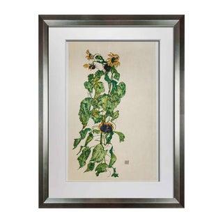"Modern Egon Schiele Lithograph ""Sunflowers"" For Sale"