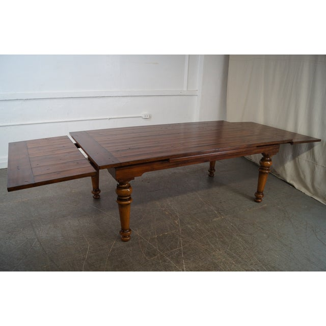Rustic Farmhouse Style Refractory Dining Table - Image 5 of 10