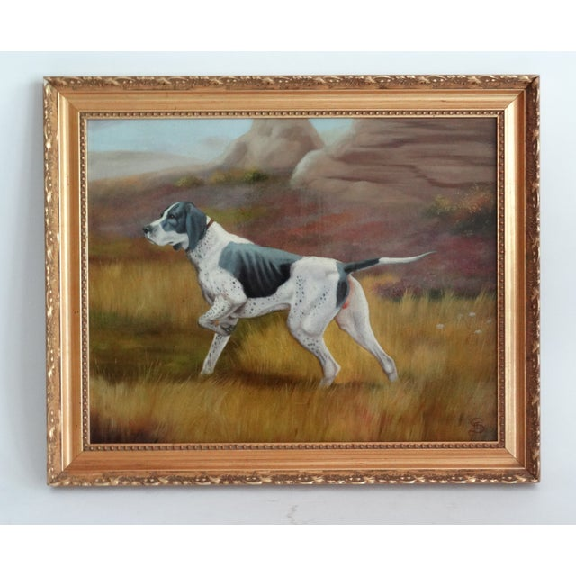 1950s Sporting Hunting Dog Oil Painting English School For Sale - Image 5 of 5