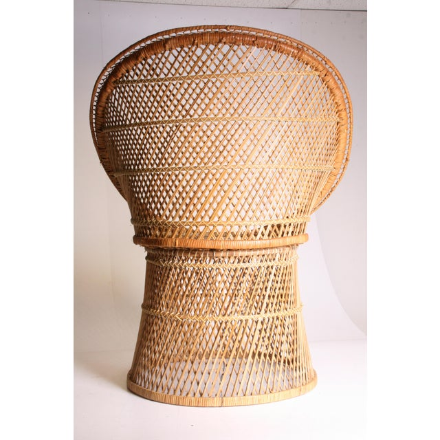 Vintage Boho Chic Wicker Pod Chair For Sale - Image 6 of 11