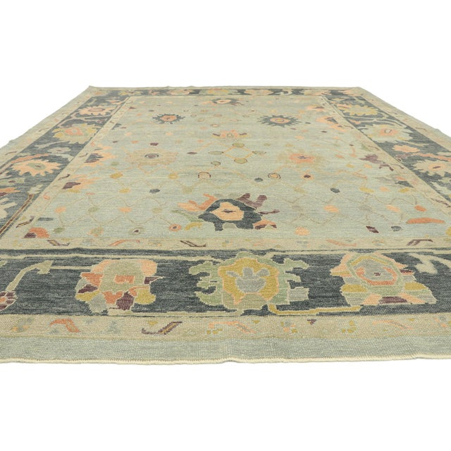 Contemporary Contemporary Turkish Oushak Rug With Modern Style - 10'03 X 14'02 For Sale - Image 3 of 9