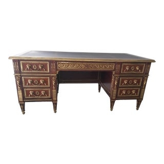 French Neoclassical Style Ormolu Mounted Mahogany Desk For Sale
