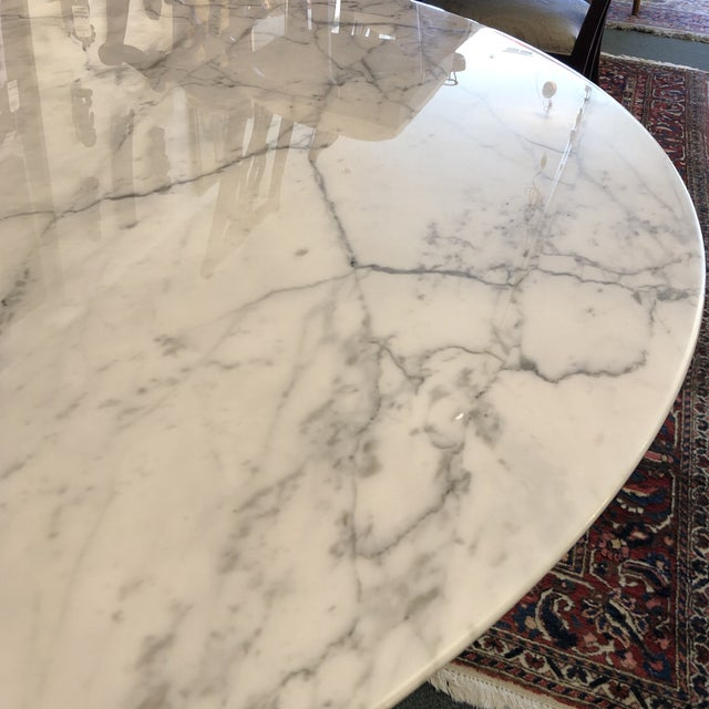 Carrara Marble Saarinen Carrar Marble Tulip Table For Sale - Image 7 of 13