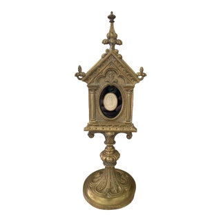 19th Century Brass Reliquary With Intaglio For Sale
