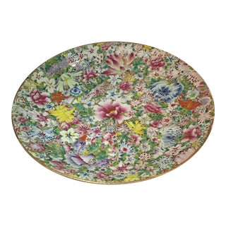 Tongzhi Chinese Porcelain Floral Charger For Sale