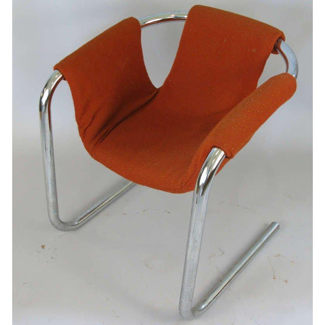Vecta Group, Italy 1950s Chrome Base Zermatt Chairs - a Pair For Sale - Image 4 of 6