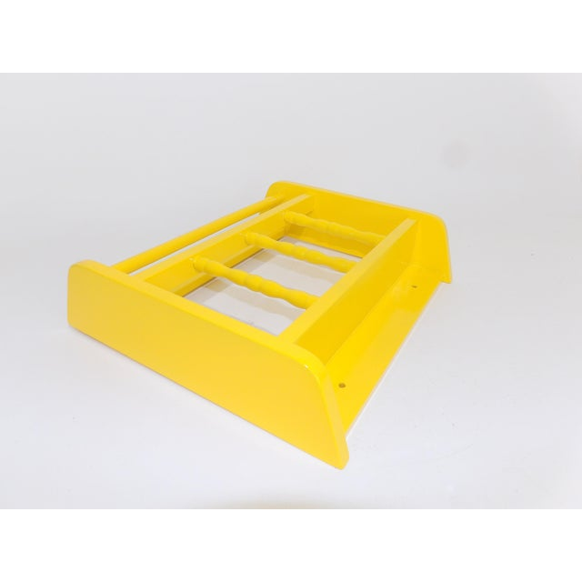 Mid-Century Modern Electric Yellow Magazine Rack For Sale - Image 3 of 6