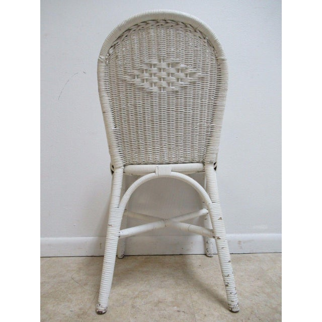 Antique Wicker Outdoor Patio Chair For Sale - Image 5 of 11